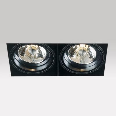 Minigrid in Trimless 2 QR Frames Empotrables BA15d 2x50w Aluminio