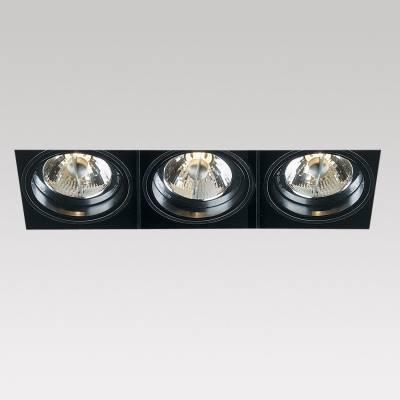 Minigrid in Trimless 3 QR Frames Recessed BA15d 3x50w Aluminium