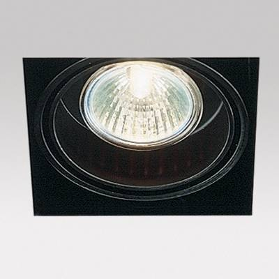 Minigrid in Trimless 1 50 Frames Recessed GU5.3 1X50w 30º Black
