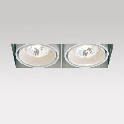 Minigrid in Trimless 2 50 Frames Recessed GU5.3 2x50w 30º Black