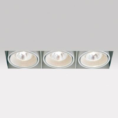 Minigrid in Trimless 3 50 Frames Recessed GU5.3 3x50w 30º Aluminium