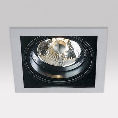 Minigrid in 1 QR BA15d 1x50w 30º Aluminium Aluminium