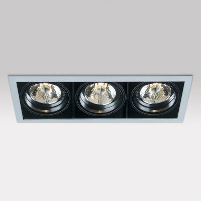 Minigrid in 3 QR BA15d 3x50w Aluminio Aluminio