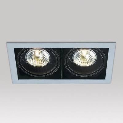Minigrid in 2 50 Frames Encastré GU5.3 2x50w Aluminium Aluminium