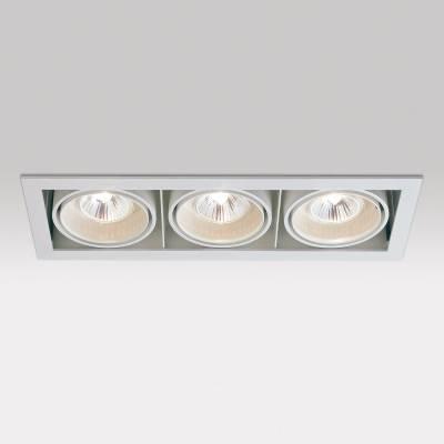 Minigrid in 3 50 GU5.3 3x50w Aluminio Aluminio