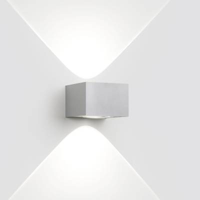 Vision Out Wall Lamp Técnico LED 2x3w 4000K NW to Alu Grey