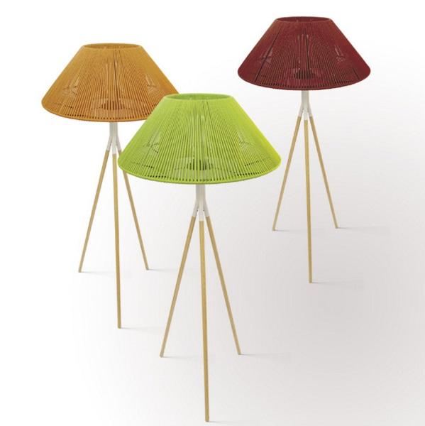 Koord lamp of Floor Lamp Wood E27 ¸70x165