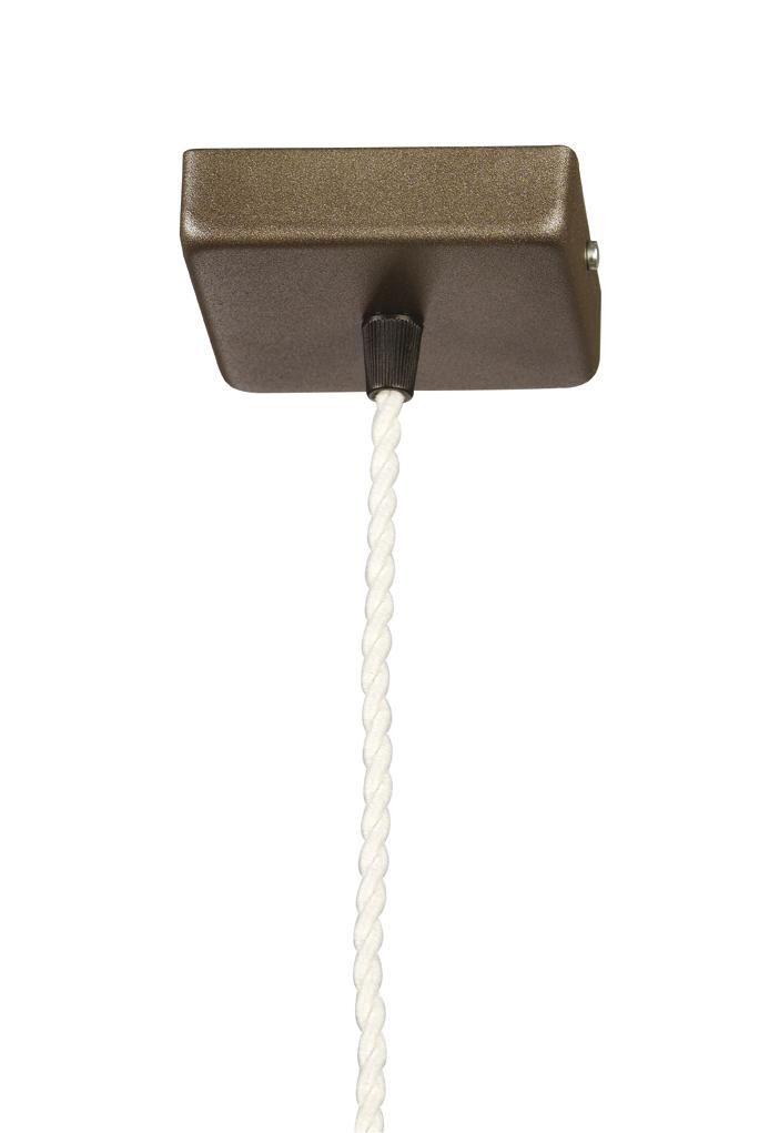 Soporte Lámpara Colgante Cuadrado Marrón cable Transparente