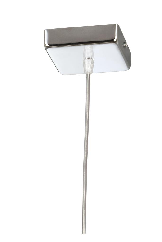 Soporte Lámpara Colgante Cuadrado Cromo con cable Transparente
