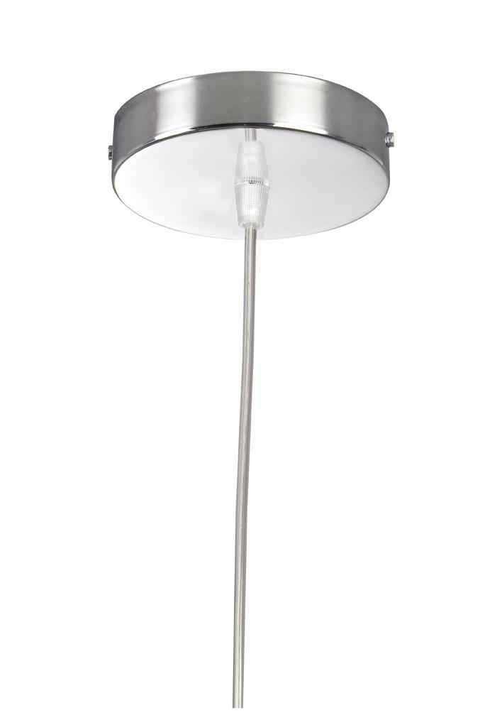 Soporte Lámpara Colgante Redondo Cromo cable Transparente