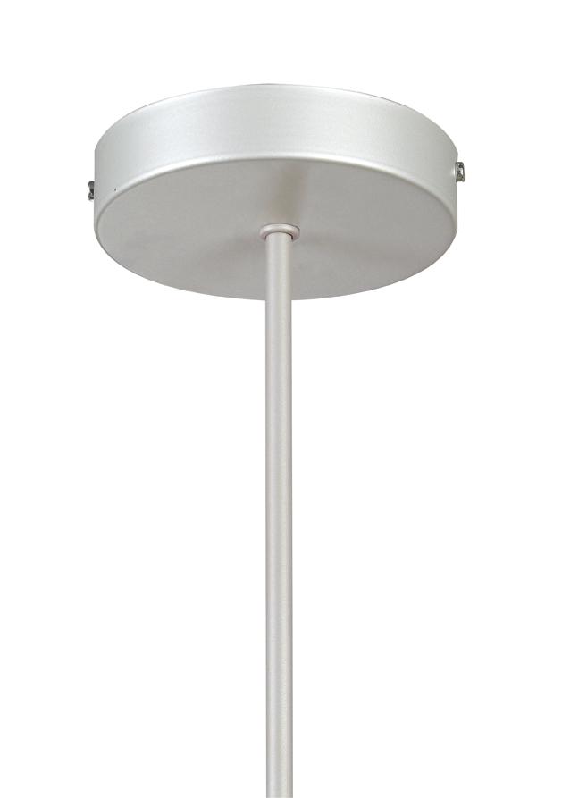 Soporte Lámpara Colgante Redondo gris tija 25 cm