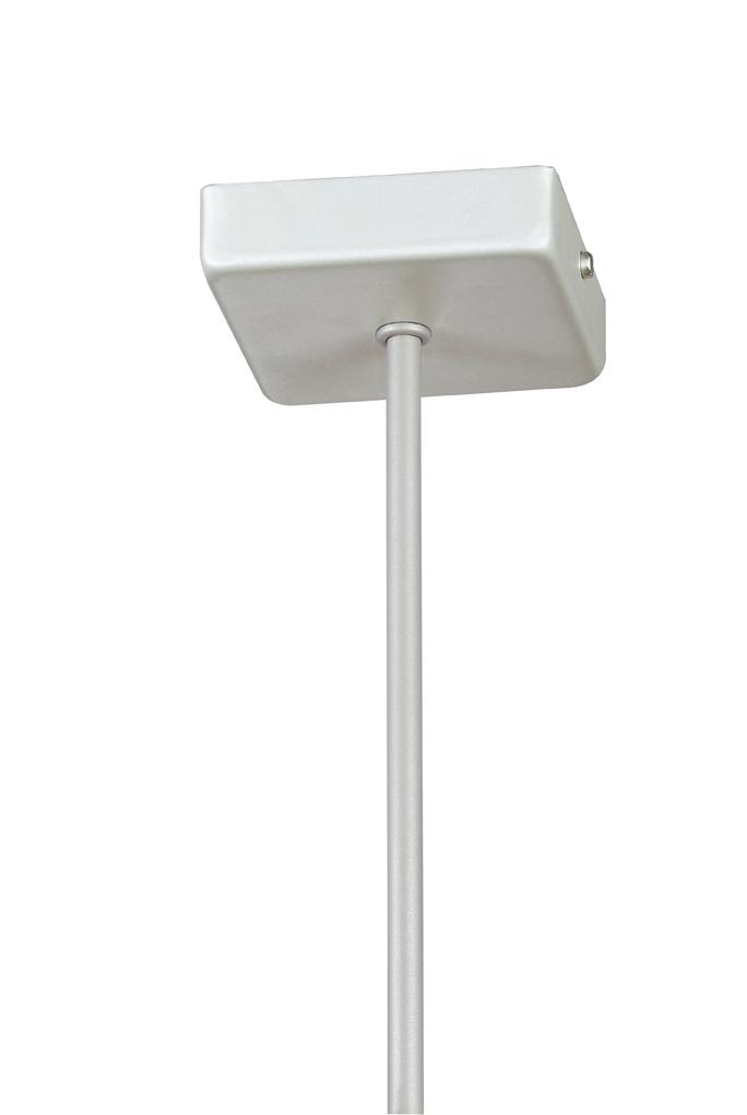 Soporte Lámpara Colgante Cuadrado gris tija 25 cm