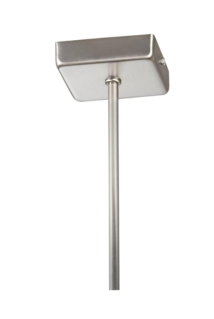 Soporte Lámpara Colgante Cuadrado Cromo tija 25 cm