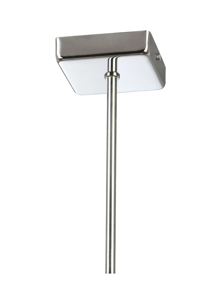 Soporte Lámpara Colgante Cuadrado Níquel tija 25 cm