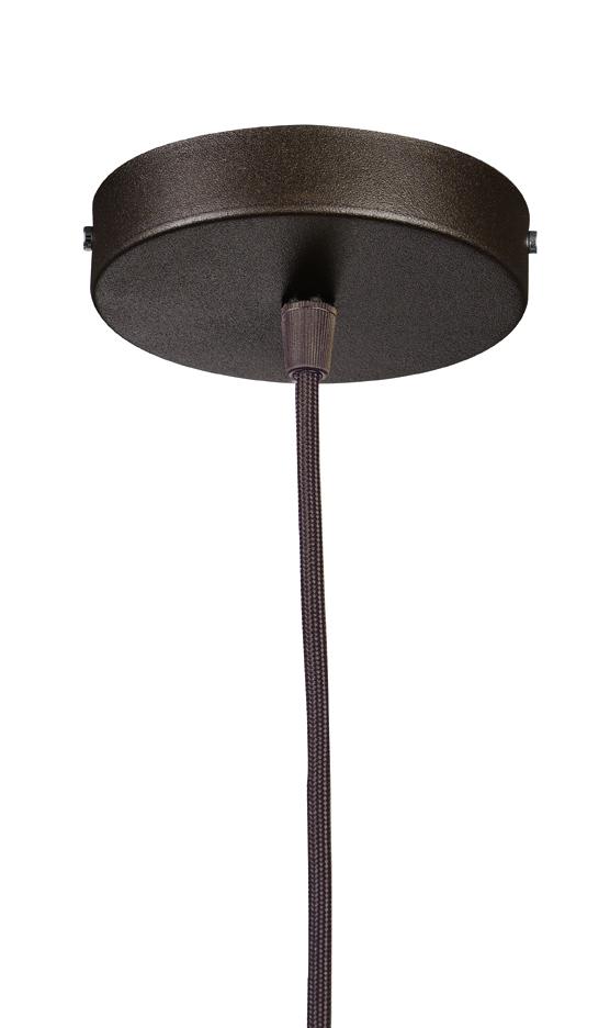 Soporte Lámpara Colgante Redondo negro cable Transparente