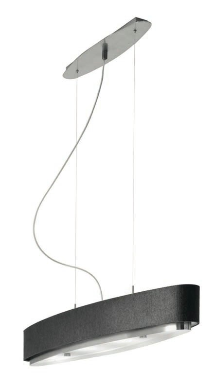 Iris T 2711 Pendant Lamp E14 6x11W Chrome lampshade black