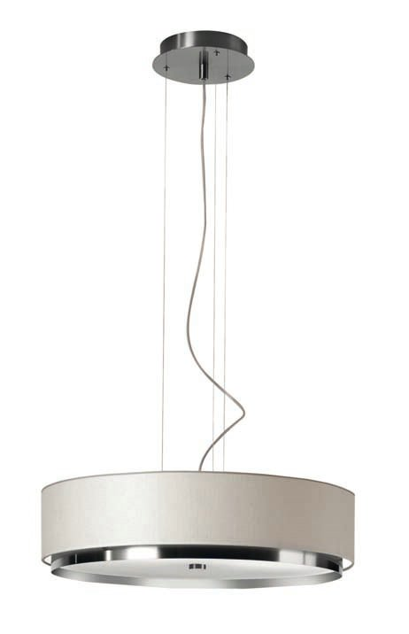 Iris T 2714 Pendant Lamp E27 3x25W Chrome white lampshade