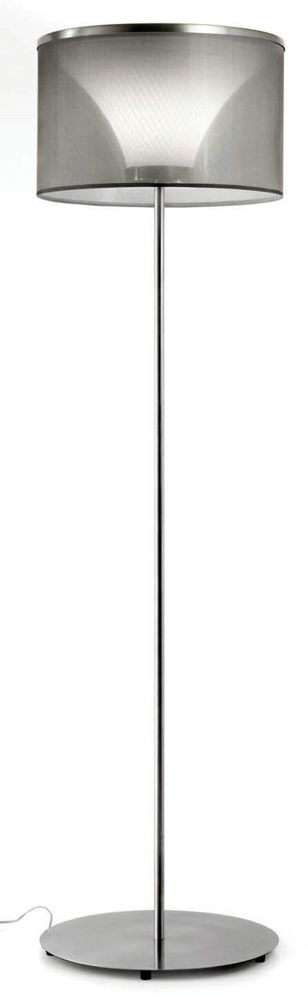 Doppia P 2559 lámpara of Floor Lamp lampshade whitea