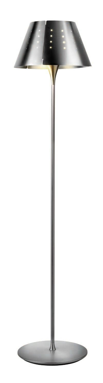 Quepi due T 5739 lámpara of Floor Lamp Nickel mate