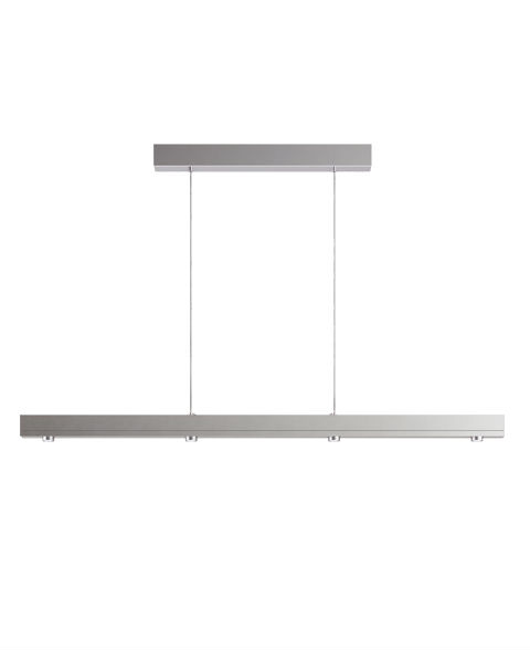 Fina Lámpara Colgante 112cm LED 4x7w regulable 3000K Níquel