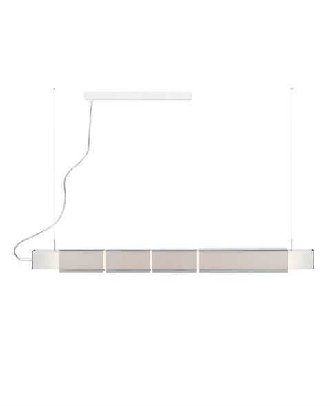 Lungta T 3075 Pendant Lamp T5 2x54w dimmable Nickel mate