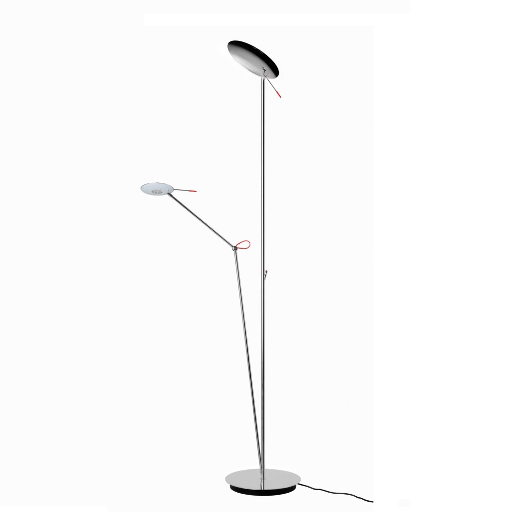 Moon P 3009 lámpara of Floor Lamp cable Black Níquel