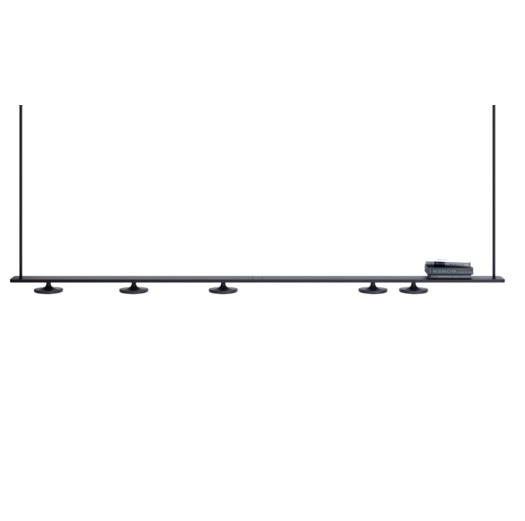 Button lamp Pendant Lamp linear (4 Luces) Black