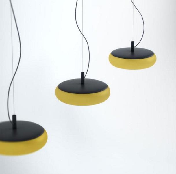 Emma lampe Pendelleuchte metalico Gelb 17,5W