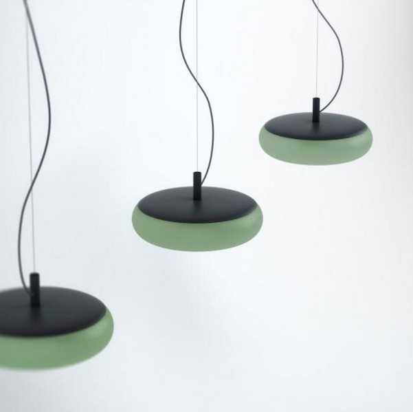 Emma lampada Lampada a sospensione metalico Verde palido 17,5W