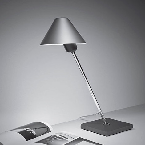 Gira 1978 Table Lamp Silver Anodized