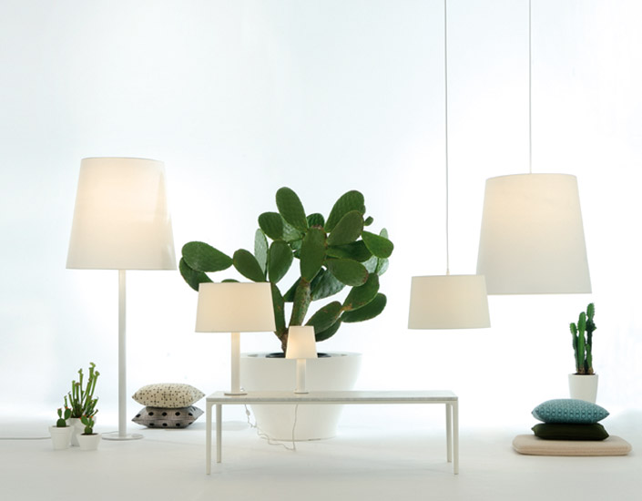 Cotton M Table Lamp E27 1x70W white lampshade and base white