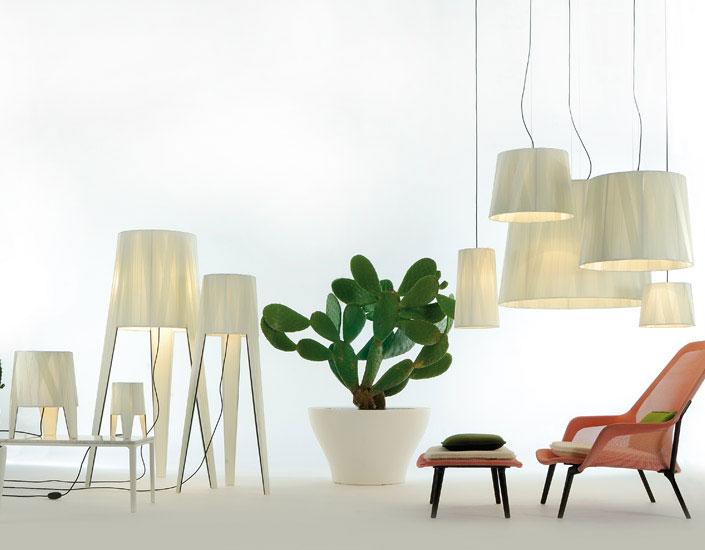 Dress M Pendant Lamp E27 1x105W lampshade Cream and floron Chrome Black