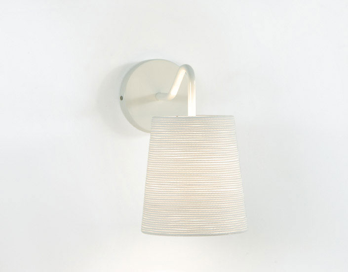 Tali Wall Lamp E27 1x15W white lampshade and Stand white