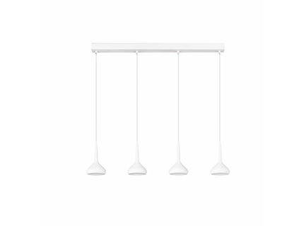 Tempo 4 Lámpara Colgante blanco LED 32w 3000K