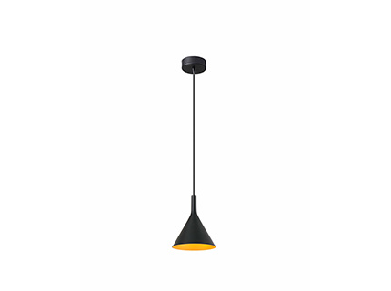 Pam P Pendant Lamp Black/ORO LED 11w 3000K