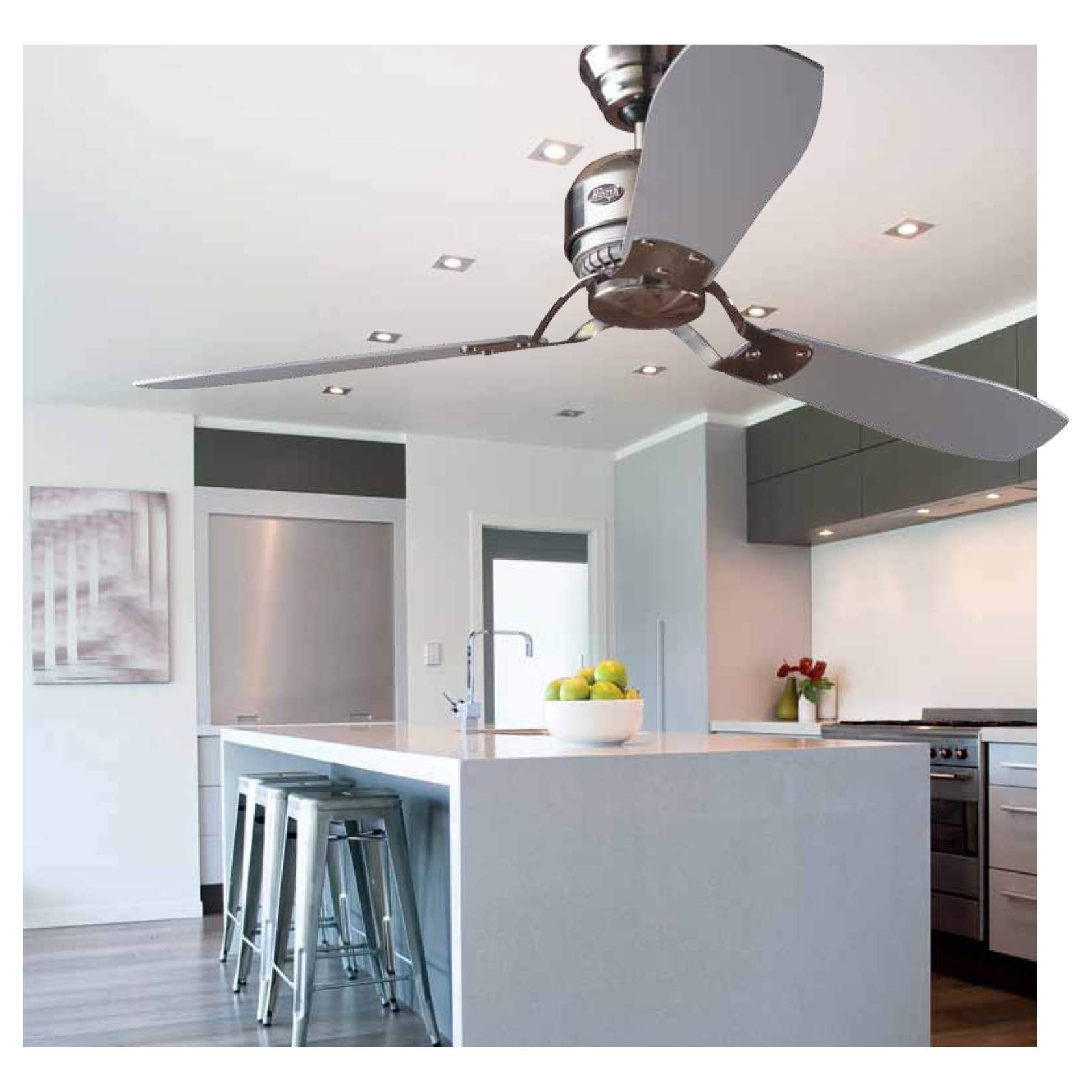 Loft Hunter Fan of Ceiling Chrome 3 blades ø132cm