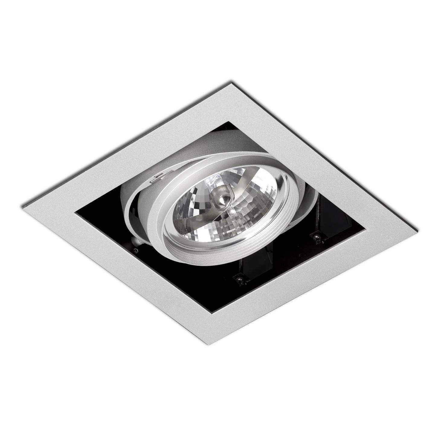 Gingko Recessed Ceiling adjustable 1x QR-111 100w Grey