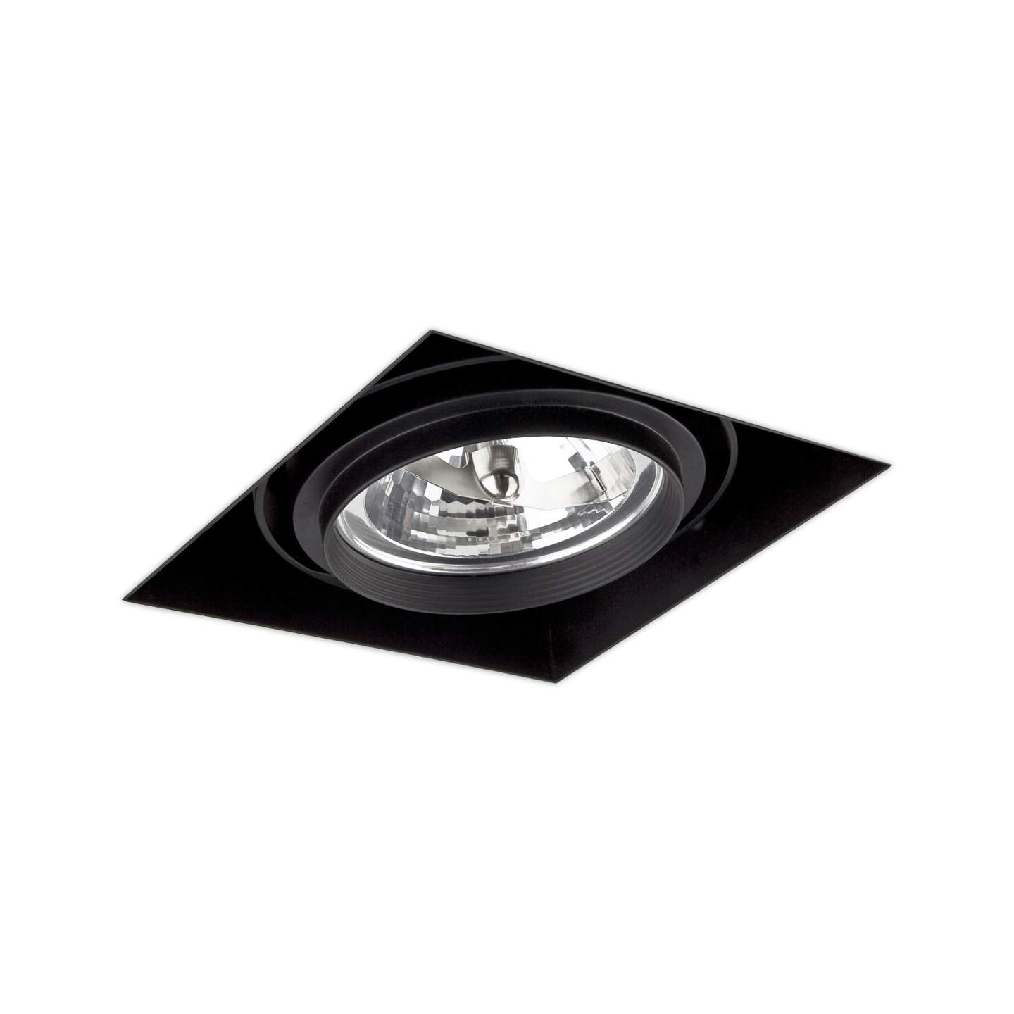 Gingko Recessed Ceiling adjustable 1x QR-111 100w Black / without Framework