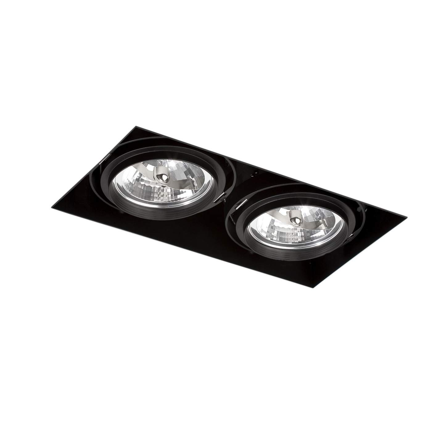 Gingko Recessed Ceiling adjustable 2xQR-111 100w Black / without Framework