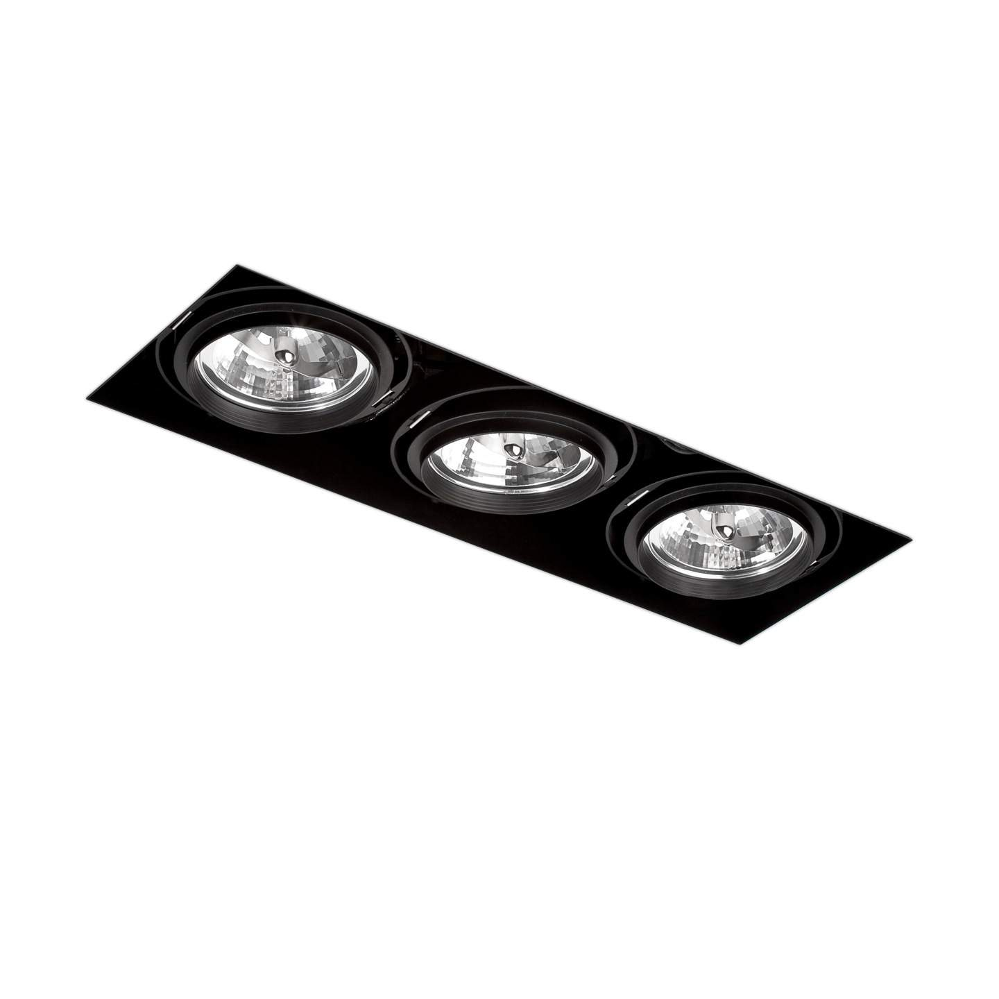 Gingko Recessed Ceiling adjustable 3xQR-111 100w Black / without Framework
