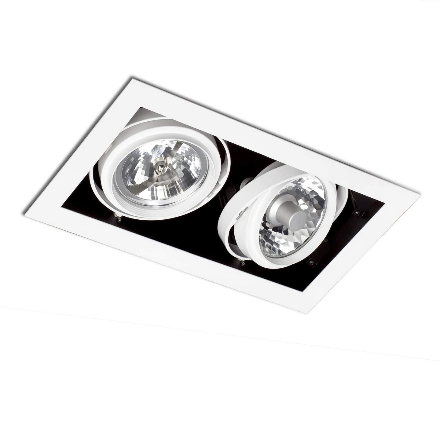 Morris Recessed Ceiling (body without PortaLámpara s) 2xElements white