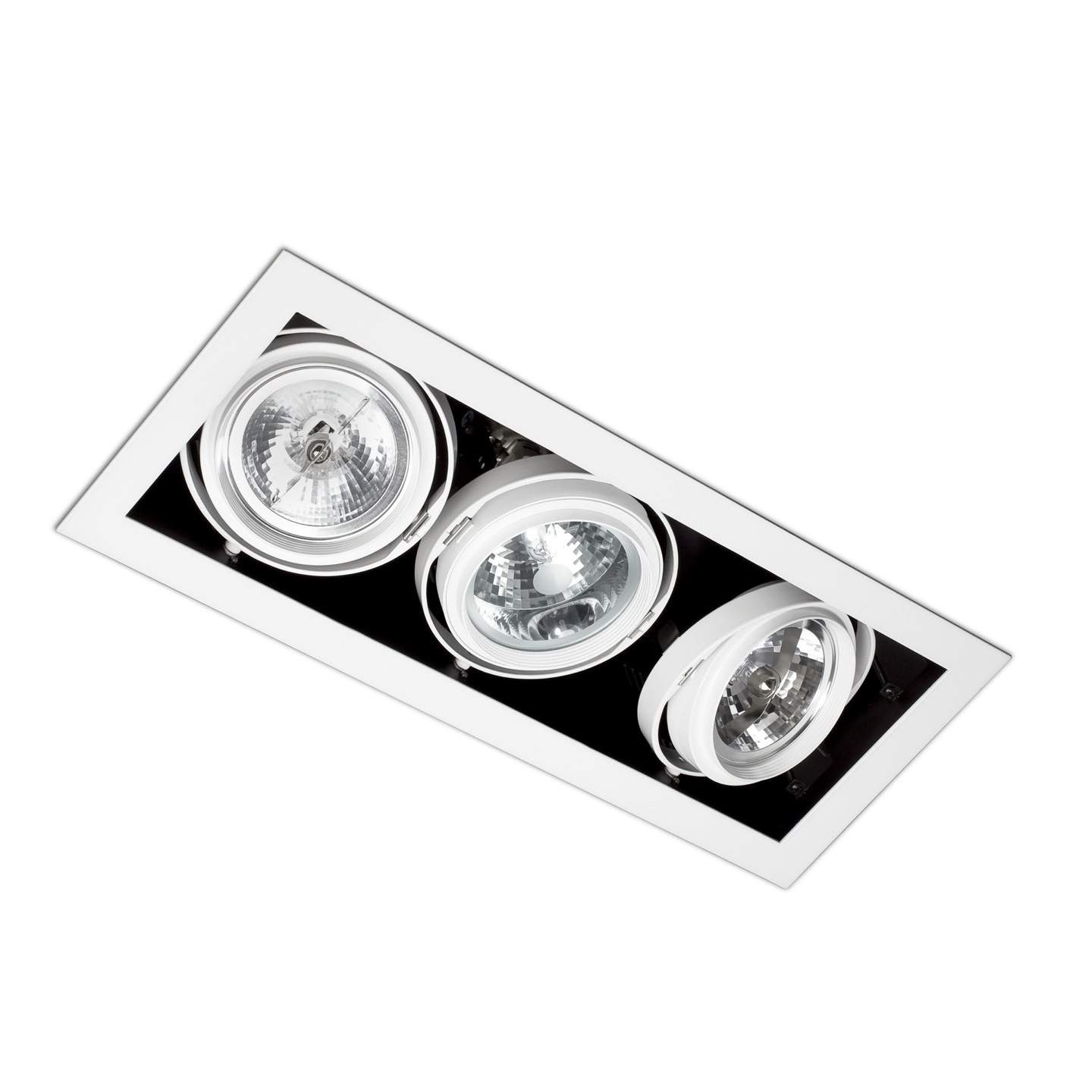 Morris Recessed Ceiling (body without PortaLámpara s) 3xElements Black
