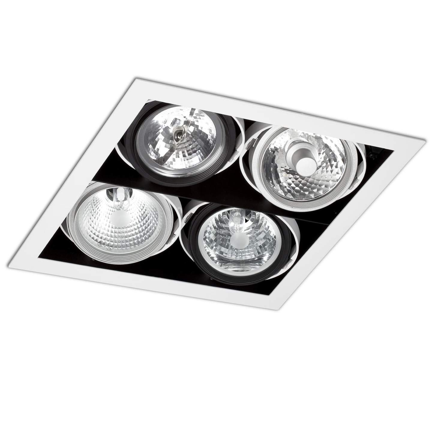 Morris Recessed Ceiling (body without PortaLámpara s) 4xElements white