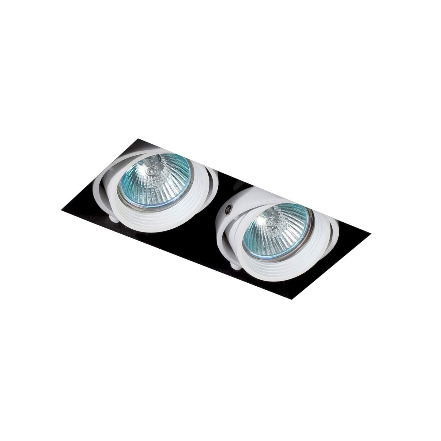 Falcon Recessed adjustable white without Framework 2xGU10 50W