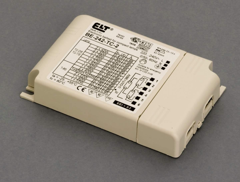 Reactancia electrónica para flurescentes 2x26/32/42w (Marca ELT)