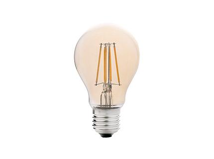 Bombilla Estandar filamento led ámbar E27 4w 2200k