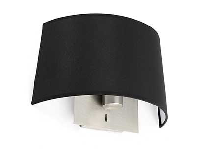 Volta Wall Lamp Black E27 20w 2700k