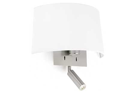 Volta Wall Lamp white with lector led 20w 2700k