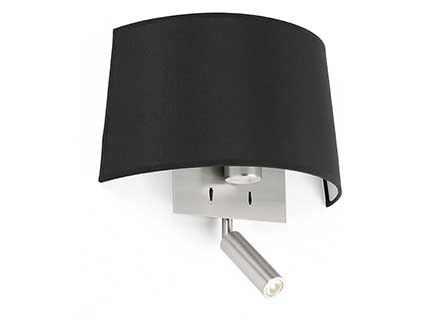 Volta Wall Lamp Black with lector led 20w 2700k