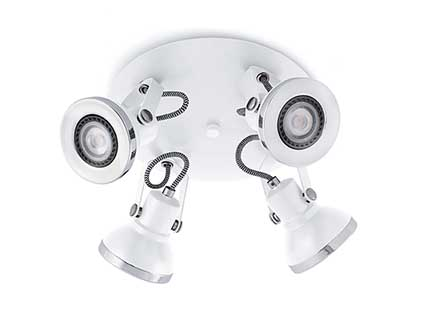 Ring 4 ceiling lamp white 4 x GU10